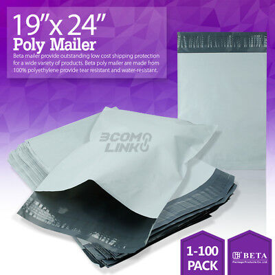 19x24 Poly Mailer Shipping Mailing Packaging Envelope Self Sealing Bags Light