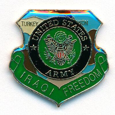 Iraqi Freedom U.S. Armee Emblem United States Army USA Badge Pin Anstecker 0778