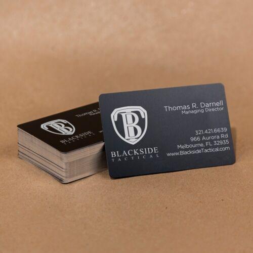 100 Black Anodized Aluminum Business Card Blanks Laser Engraving Sheet Metal