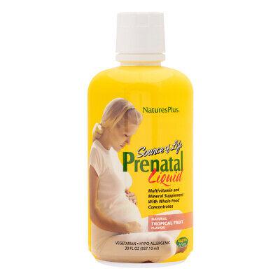 Nature's Plus Source of Life Prenatal Liquid - Tropical Fruit