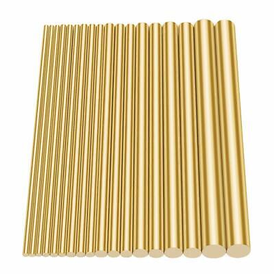 18 Pcs Assorted Brass Solid Round Rod Lathe Bar Stock Kit 2mm-8mm Length 100mm