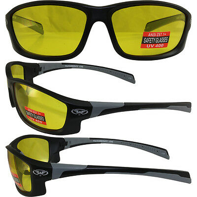 Hercules 5 Safety Glasses Z87.1 Yellow Shatterproof Polycarbonate Lens