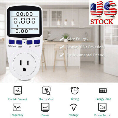 Digital Outlet Power Meter Energy Monitor Volt Watt Voltage