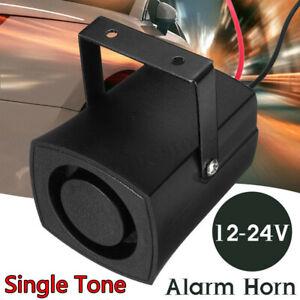 12-24V Alarm Horn Car Warning Single Tone Siren Loud Sound Safe Motorcycle Truck