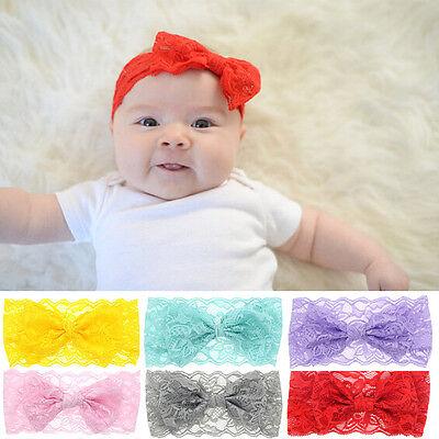 Baby Girl Turban Lace Bowknot Hairband Floral Headband Tiara Hair Accesories