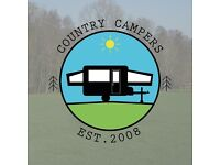 WANTED FOLDING CAMPERS AND TRAILER TENTS By family run business