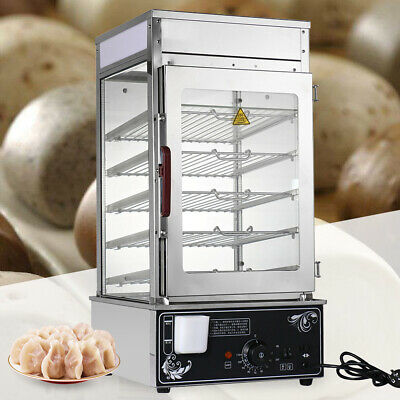 Commercial Bun Steamer Food Display Warmer Cooker Automatic Temperature Control