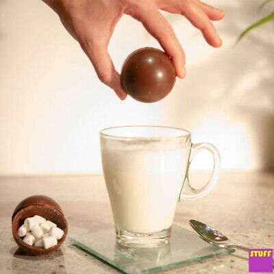 Hot Chocolate Bomb Marshmallow Bedtime Choc Drink Kids Xmas Stocking Filler Gift ()
