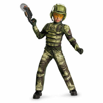 Operation Rapid Strike Red Sector Foot Soldier Classic Muscle Boys Costume 10-12](Foot Soldier Costume)