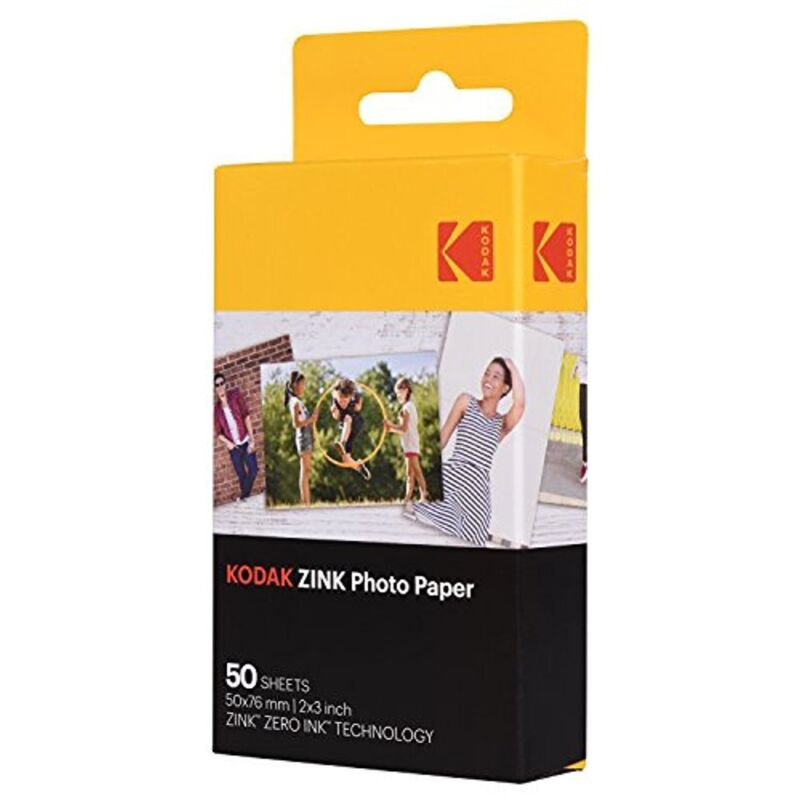 """Kodak 2x3"""" Sticky-Backed ZINK Photo Paper 50 Sheets Compatible With Printomatic"""
