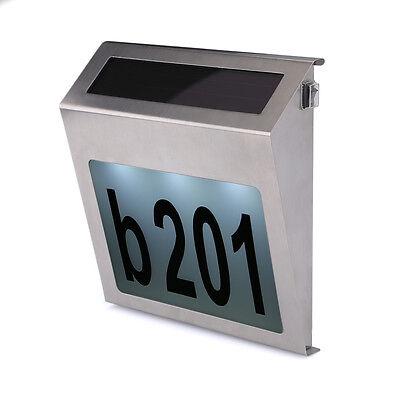 Edelstahl Design Hausnummer & Solar Led Beleuchtung Hausnummernleuchte