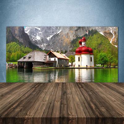 Kitchen Splashback 140x70 Tempered Glass Mountain Tree Home Landscape Uk Home Zubehör