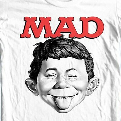 MAD Magazine Alfred E Newman T-shirt  retro 1970's funny graphic tee WBT349 ()