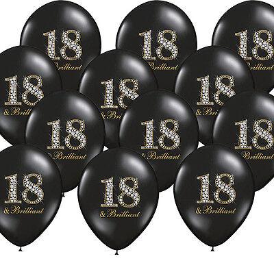 allons schwarz Partydekoration Deko 18 & Brilliant (18 Luftballons)