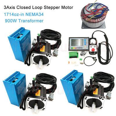 12nm 3axis Nema34 Motor Closed Loop Stepper Drive Kittransformercnc Controller