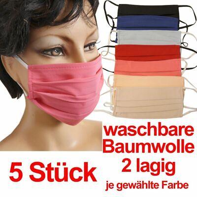 Maske Stoffmaske Baumwollmaske Mund Nasen Masken Waschbar 5 Stück je Sorte Maske