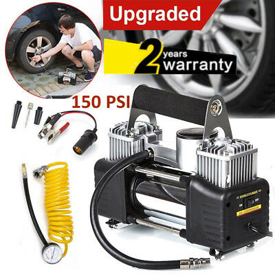Heavy Duty 12v Car Air Compressor 150PSI Tyre Deflator Portable Inflator Pump UK