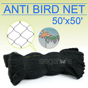 50' X 50' Bird Netting Chicken Protective Net Screen Poultry Garden Aviary Game