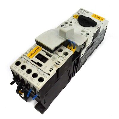 Eaton Pkzm0-4 Motor Starter W Dilm7-01 Contactor Omx12dm Mechanical Adapter