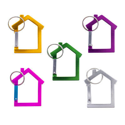 Paracord Planet House Shaped Carabiner Key Chain with Split Key Ring - Aluminum - House Shaped Key Ring
