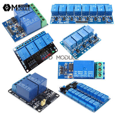 12v 124816 Channel Relay Module With Optocoupler For Arduino Pic Avr Dsp Arm