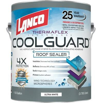 Seal Rubber Roof Coating 1 Gal Coolguard Rv Home Protect Waterproof Paint
