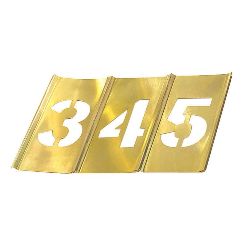 Stencil Set,Numbers,Brass 10011