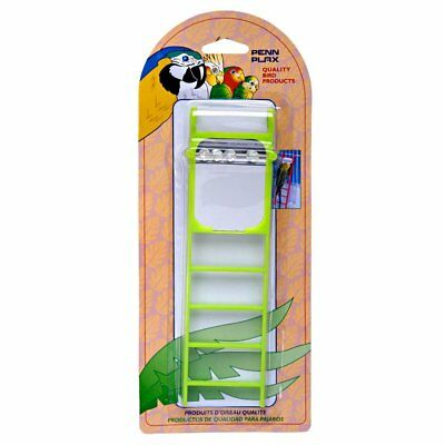 PENN PLAX LADDER WITH BEAD MIRROR 4 STEP BIRD TOY ASSORTED COLORS. FREE SHIP USA