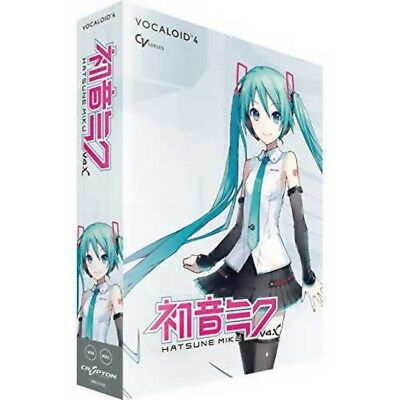 Hatsune Miku V4X VOCALOID4 Music creation software Win Mac Japan with Tracking