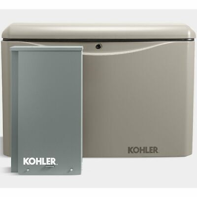 Kohler 20rcal-200sels 20kw Aluminum Standby Generator System 200a Service Di...