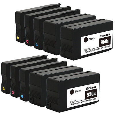 10Pk New Gen Hp 950Xl 951Xl Ink Cartridge For Officejet Pro 8610 8640 8600 Plus