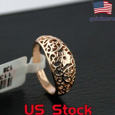 Women Vintage Hollowed-out Ring Party Wedding Engagement Promise Jewelry Gift ()