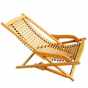 Luxo Woodford Eucalyptus Timber Outdoor Deck Chair Sydney City Inner Sydney Preview