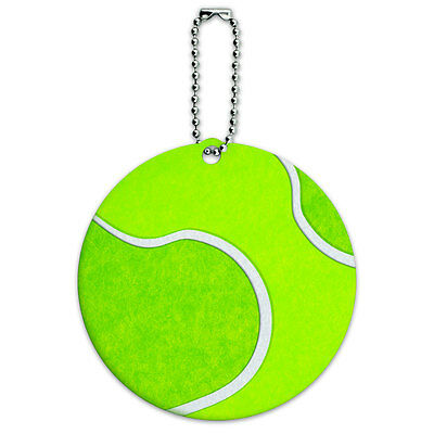 Tennis Ball Round Luggage ID Tag Card Suitcase Carry-On
