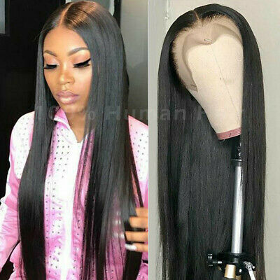 Silky Straight Peruvian 13x4 Glueless Lace Front Wig 100% Virgin Human Hair -