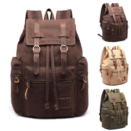 Mellowed Retro Canvas Backpack Travel Sport Rucksack Satchel Hiking School Bag