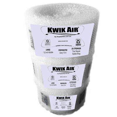 Kwikair Bubble Cushion Wrap Roll 525 X 14 Medium 516 Bubbles Perforated 10