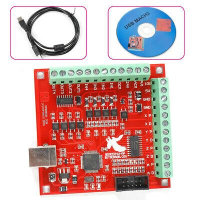 4-axis Usb Interface Board Cnc Mach3 Motion Controller Card Board Wusb Cable Cd