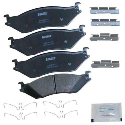 Disc Brake Pad-Premium Copper Free Semi-Metallic BPR Front,Rear Bendix CFM369