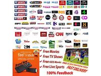 Amazon Fire TV Stick - Jailbroken Fully Loaded Movies, TV shows, SKY BT Sports (No Subscription)