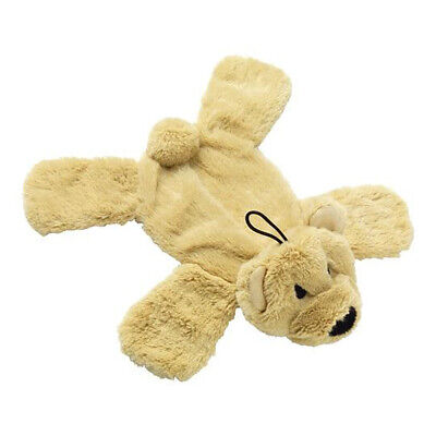 House of Paws Crinkle Noisy Paws Bear Dog Toy | Stuffing Free Flat Squeaky Pet