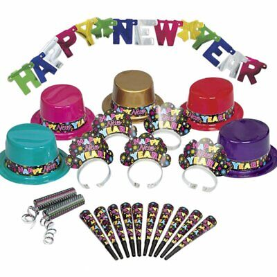 New Years Party Blowers (Happy New Years Eve Party Kit Hats Blowers Horns Tiaras Streamers)