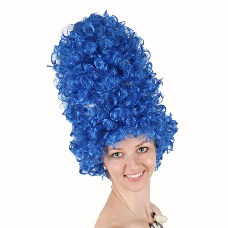 Marge Simpson Wig The Simpsons Marg Blue Beehive 1960