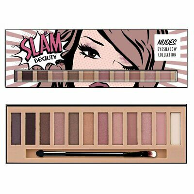 12 Shade Natural Nude Eyeshadow Palette Eye Makeup w/ Matte & Shimmery Hues Eye Shadow