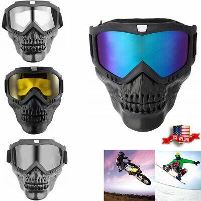 Motorcycle Motocross Winter Face Mask Goggles Dirt Bike ATV MX Off-Road (Goggles Eyewear)
