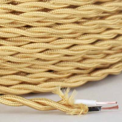 Brass Twisted Wire - BRASS ~ Antique Look TWISTED Cloth Covered Fabric Lamp Wire ~ Price Per Foot