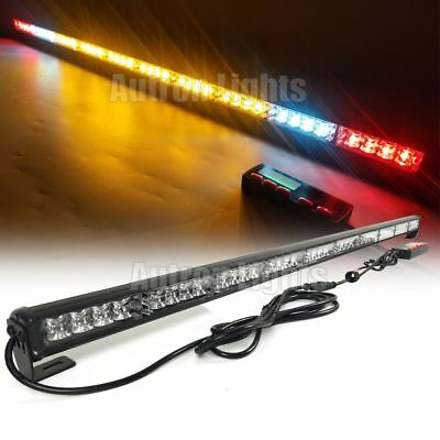 44 40w Led Light Bar Emergency Response Strobe Brake Amber White Cargo Lights