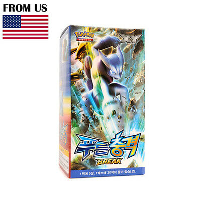 "Pokemon Cards XY Break ""Blue Impact"" Booster Box (30 Pack) / Korean Version"