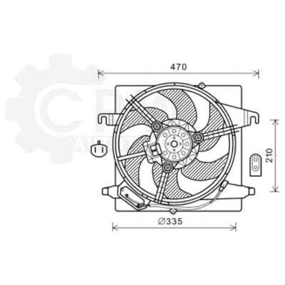 Fan Engine Cooling Radiator Fan Blower Motor Ford Ka Van Street RB_ RB