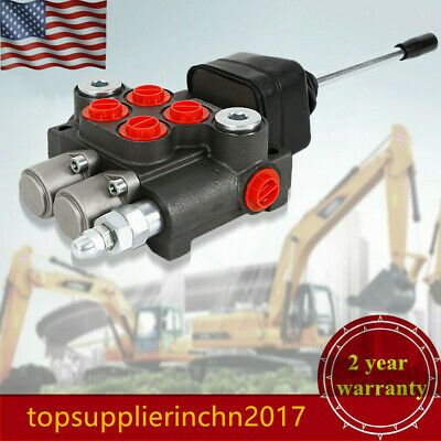 2 Spool Hydraulic Directional Control Valve 3600psi 11 Gpm Small Tractor Loader